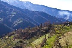 Vista das montanhas em Georgian Imagem de Stock