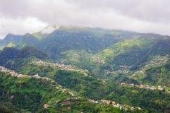 Vista das montanhas na rota Vereda a Dinamarca Penha de Aguia, ilha de Madeira, Portugal, Europa Imagens de Stock Royalty Free