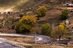 Vista das montanhas, Tibet, China foto de stock