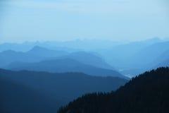 A vista das montanhas Wank Fotografia de Stock