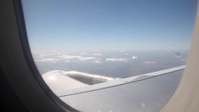 Vista das nuvens do avião filme