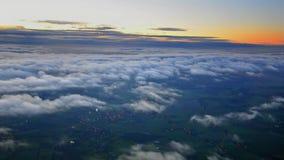 Vista das nuvens do avião vídeos de arquivo