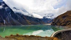 A vista das represas de Kaprun em Zell Am considera Imagem de Stock