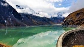 A vista das represas de Kaprun em Zell Am considera Imagens de Stock Royalty Free