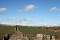 Vista das ruínas do castelo Foto de Stock