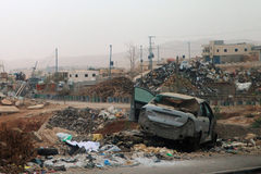 Vista das ruas após bombardeios de Israel em Palestina Imagens de Stock Royalty Free