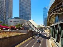 Vista das ruas de Tel Aviv Atração turística da cidade verão de 2018 foto de stock royalty free