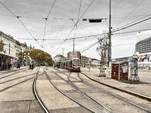 Vista das ruas de Viena imagens de stock royalty free