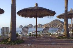 A vista das terras termina do hotel de luxo Imagens de Stock Royalty Free