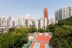 Vista das vizinhanças residenciais Macau. Fotografia de Stock Royalty Free