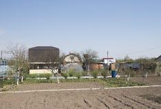 Vista de áreas suburbanas e de construções fotos de stock