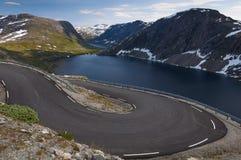 Vista de Ørnesvingen, Noruega Fotos de Stock Royalty Free