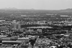 Vista de acima Banguecoque, Tailândia Fotos de Stock Royalty Free