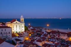 Vista de Alfama, Lisboa, Portugal Foto de archivo libre de regalías
