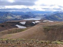 Vista de Alftavatn Foto de archivo