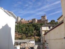 Vista de Alhambra de Albayzin & de x28; Albaicin& x29; em Granada Imagens de Stock
