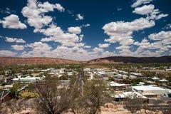 Vista de Alice Springs Foto de archivo