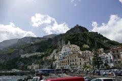Vista de amalfi, Italia Imagens de Stock Royalty Free