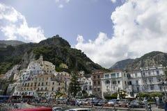 Vista de amalfi, Italia Imagem de Stock