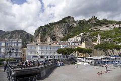 Vista de amalfi, Italia Foto de Stock Royalty Free