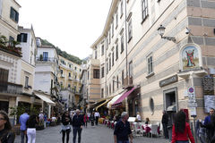 Vista de amalfi, Italia Fotos de Stock Royalty Free