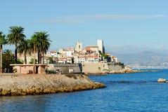 Vista de Antibes (Francia, francesa Imagen de archivo libre de regalías