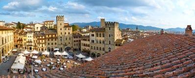 Vista de Arezzo Fotos de archivo libres de regalías