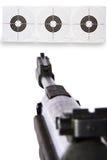 Vista de arma en blancos Foto de archivo