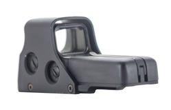 Vista de arma olográfica aislada en el fondo blanco Foto de archivo