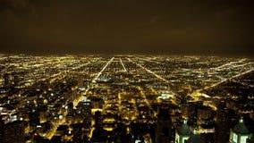 Vista de arriba de Chicago céntrica - lapso de tiempo metrajes