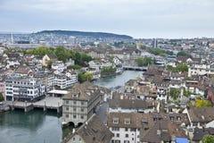 Vista de arriba de Zurich Imágenes de archivo libres de regalías