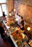 Vista de arriba del marmelade del contador del café Imagenes de archivo