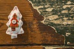 Vista de arriba de la decoración blanca de la forma del árbol de navidad Imagen de archivo libre de regalías