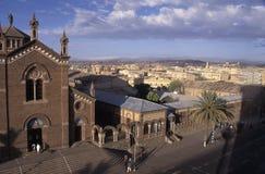 Vista de Asmara, Eritrea fotografía de archivo libre de regalías