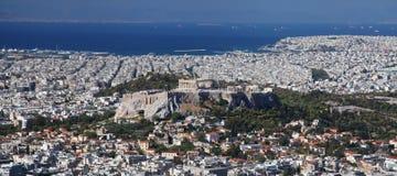 Vista de Atenas Imágenes de archivo libres de regalías