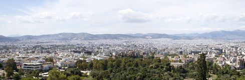 Vista de Atenas da acr?pole fotos de stock royalty free
