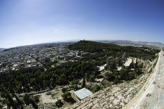 Vista de Atenas de la acrópolis Fotos de archivo