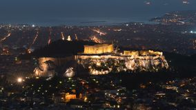 Vista de Atenas e da acrópole do Mount Lycabettus vídeos de arquivo