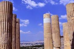 Vista de Atenas de la acrópolis imágenes de archivo libres de regalías