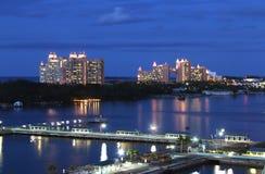 Vista de Atlantis do porto de Nassau Foto de Stock Royalty Free