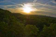 Vista de Austin Greenbelt Sunset Amazement Rare Foto de archivo libre de regalías