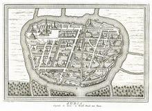 Vista de Ayutthaya Judia Tailândia - 1750 Imagens de Stock Royalty Free
