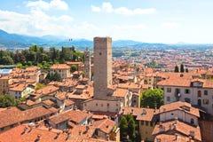 Vista de Bérgamo, Italia Imagen de archivo libre de regalías