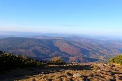 Vista de Babia Gora, Beskidy, Polônia Imagens de Stock Royalty Free