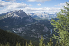 Vista de Banff Fotos de archivo
