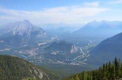 Vista de Banff da gôndola de Banff fotografia de stock