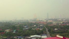 Vista de Bangkok, Tailandia almacen de metraje de vídeo