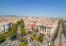 Vista de Barcelona imagens de stock