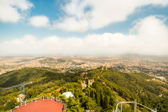 Vista de Barcelona de Tibidabo Fotografia de Stock