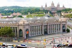 Vista de Barcelona del palacio superior y nacional Imagen de archivo libre de regalías